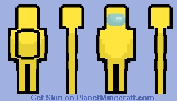 Yellow Crewmate - Among Us Minecraft Skin