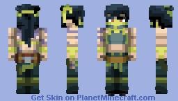 Akali from League of legends Minecraft Skin