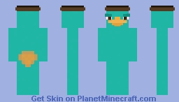 Perry the Platypus - Agent Minecraft Skin