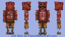 Five Nights at Freddy's: Out of Order Foxy Suit Minecraft Skin