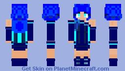 𝓐𝓺𝓾𝓪𝓻𝓲𝓾𝓼 - 𝓯𝓮𝓶𝓪𝓵𝓮 {𝓩𝓪𝓻𝓪}  (Zodiac skin contest) Minecraft Skin