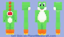 Yoshi ~ Gaming's Best Dinosaur Minecraft Skin