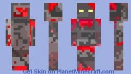 Redstone golem Minecraft Skin