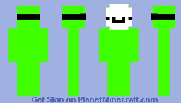 green screen with a smiley mask (totally not dream) Minecraft Skin