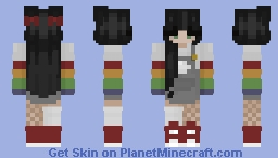Aesthetic Cute Rainbow Girl Minecraft Skin