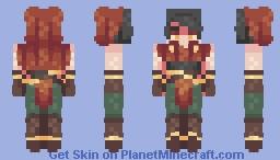 + Warrior + Minecraft Skin