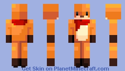Odd Foxx no ears and tail Minecraft Skin