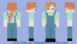 my first skin ❁redhaircutie Minecraft Skin