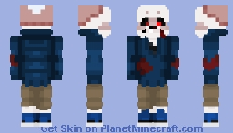 MurderTale Sans! (part of the ask blog) Minecraft Skin