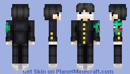 "Shigeo Kageyama ""Mob"" and Dimple (From Mob Psycho 100) Minecraft Skin"