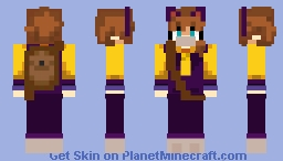 Nyzuki Metro Hat Kid /w bag Minecraft Skin