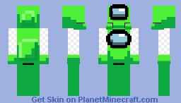 Lime Crewmate - Among Us (Java Friendly) Minecraft Skin