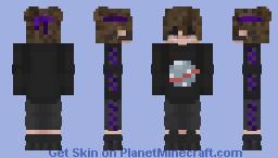 Nasa Hoodie w/ Glasses Minecraft Skin