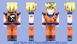 Dragon Ball Z- Super Saiyan Son Goku ~𝕋𝔼ℕ𝔸ℂ𝕀𝕆𝕌𝕊 𝕄𝔸ℝ𝕋𝕀𝔸𝕃 𝔸ℝ𝕋𝕀𝕊𝕋~ Minecraft Skin
