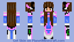 D.VA from overwatch (remake) Minecraft Skin