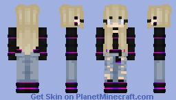 Skin 3 Striped Sweater Girl Minecraft Skin