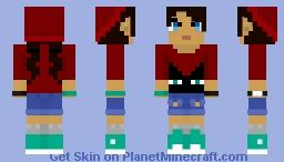 Simple Red & Aquamarine Minecraft Skin