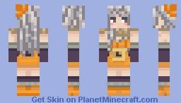 Pumpkin Witch!! Minecraft Skin