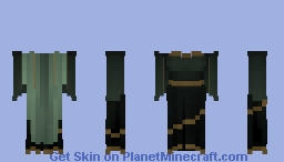 {Emerald and Gold} Gown Minecraft Skin