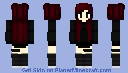 Dark Gothic Girl Minecraft Skin