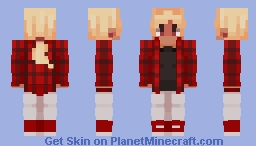 """Red is a beautiful colour!! /I mean,, unless you hate it/ I can hate it too!!"" Minecraft Skin"