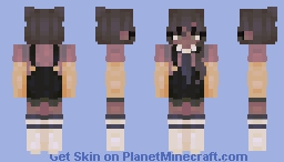 broken smile, tired eyes Minecraft Skin