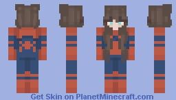 Spidergirl! Minecraft Skin