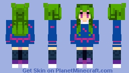 Green Hair Girl....lol Minecraft Skin