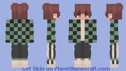 [ DEMON SLAYER ] Tanjiro themed 2.0 Minecraft Skin
