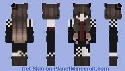 🎃Aesthetic Halloween/Demon-Vampire Girl🎃 Minecraft Skin