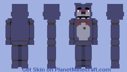 """ Bonnie's my name, I'm hopping along! "" [ FNAF ] Minecraft Skin"