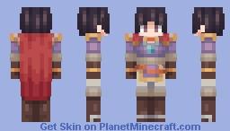 Olwen, Blue Mage Knight - Fire Emblem: Thracia 776 (Resplendent Alt) Minecraft Skin