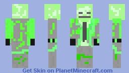 Radioactive Skeleton Minecraft Skin