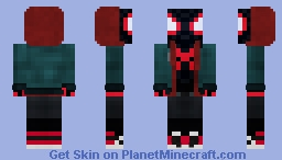 Miles Morales | Spider-Man | Spider-Verse Minecraft Skin