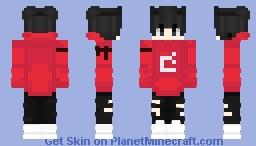 red guy mojang logo Minecraft Skin