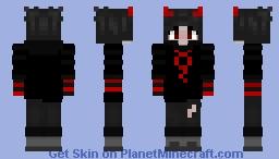 gender fluid emo // red and black Minecraft Skin