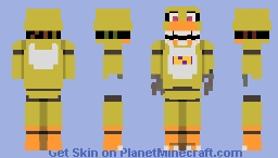 """"""" I WAS THE FIRST, I HAVE SEEN EVERYTHING. """" [ FNAF2 ] Minecraft Skin"""