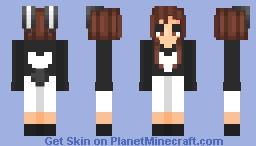 ~10 YEARS anniversary white heart~ Minecraft Skin