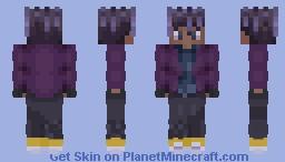 Purple Dreadlocks Minecraft Skin