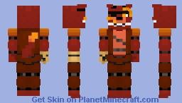 Fnaf Generation: 87 Glamrock Foxy Minecraft Skin