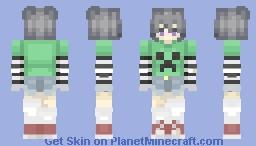 Creeper Egirl_2(ww) Minecraft Skin