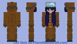 Among Us Onesie Girl Skin (Brown) Minecraft Skin
