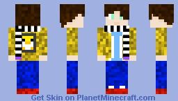 DaYellowPenguin in the snow Minecraft Skin