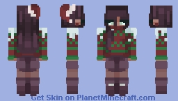 """I'm sorry I'm late..! a couple of kids decided to use me as snowball target practice..."" Minecraft Skin"