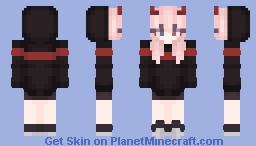 Black and Red demon Minecraft Skin