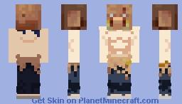 Inosuke Hashibira (Piglin head) Minecraft Skin