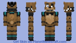 [FNAF OC] - Leftycreative The Golden Bear Minecraft Skin