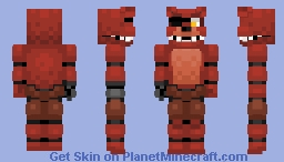 Unwithered Foxy -Five Nights at Freddy's Minecraft Skin