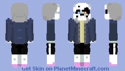 Axetale sans (Remastered Minecraft Skin