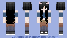 Halimah's OC (Inosuke Hashibira Themed) Minecraft Skin